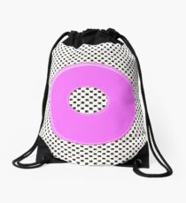 Pink bubble gum blot. Drawstring Bag