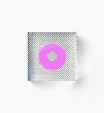 Pink bubble gum blot. Acrylic Block