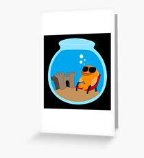 The fish in the glass Greeting Card
