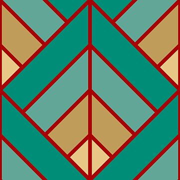 Geometric Pattern: Art Deco Diamond: Turquoise by redwolfoz