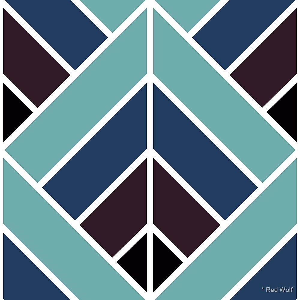 Geometric Pattern: Art Deco Diamond: Midnight by * Red Wolf