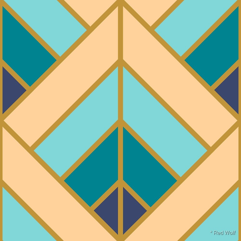 Geometric Pattern: Art Deco Diamond: Dream by * Red Wolf