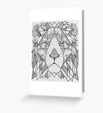 Geometric Lion 3 Greeting Card