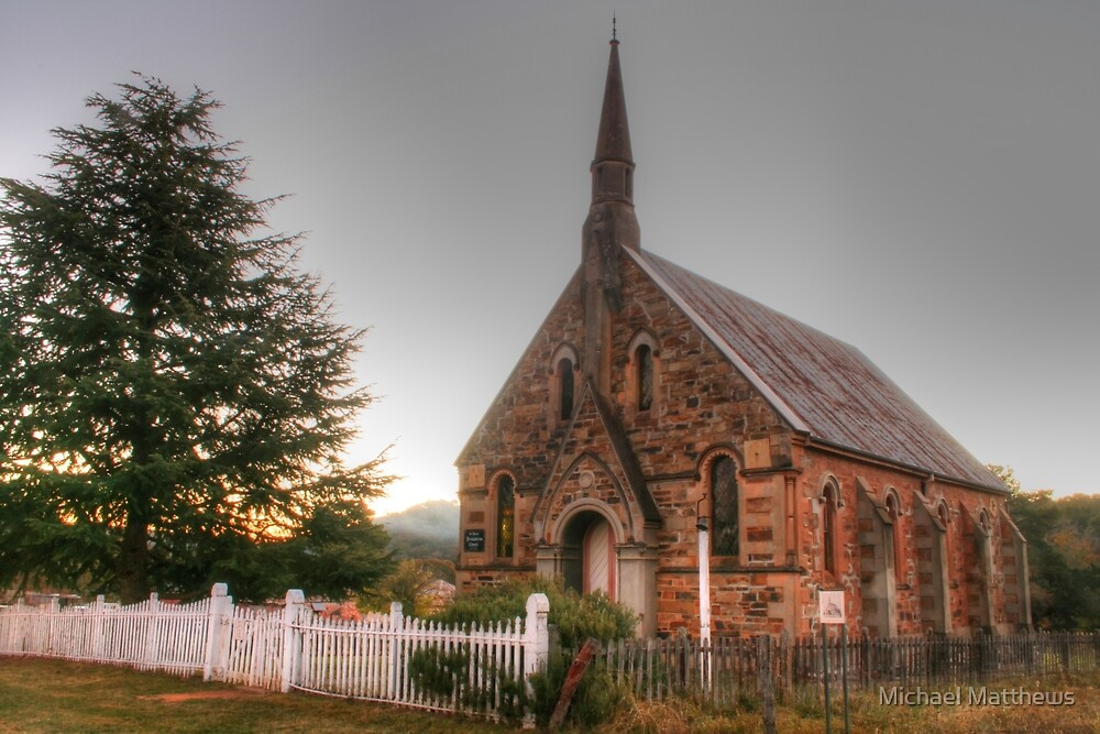 Hill End church by Michael Matthews