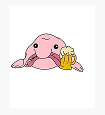 Funny Blobfish Perfect for Fish Lovers Blobfish likes to party Photographic Print