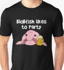Funny Blobfish Perfect for Fish Lovers Blobfish likes to party Unisex T-Shirt