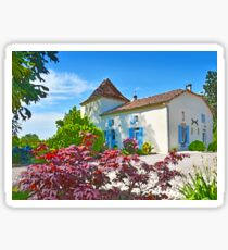 French Country Manoir House Sticker