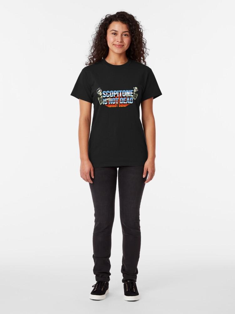T-shirt classique ''SCOPITONE IS NOT DEAD': autre vue