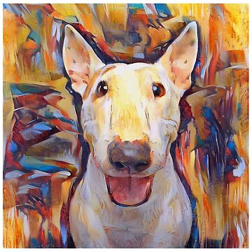 Bull Terrier - A Portrait in Oil by Chunga