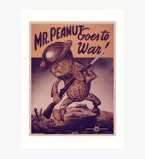 Vintage poster - Mr. Peanut Goes to War Art Print