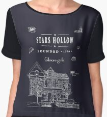 Stars Hollow Collage Chiffon Top