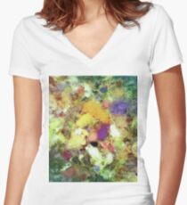 Forgotten petals Women's Fitted V-Neck T-Shirt
