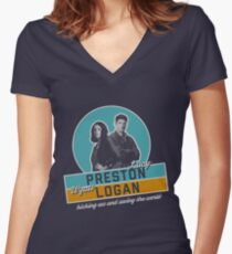Preston & Logan Women's Fitted V-Neck T-Shirt