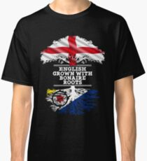 English Grown With Bonaire Roots Gift For Bonaire From Bonaire - Bonaire Flag in Roots Classic T-Shirt