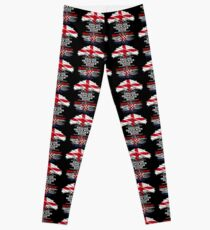 English Grown With Croatian Roots Gift For Croatian From Croatia - Croatia Flag in Roots Leggings
