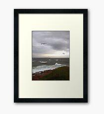 Stormy Clover Point Framed Print