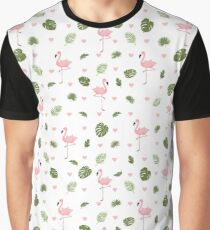 Pink Flamingo * Summer Stylish seamless pattern Graphic T-Shirt