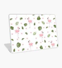Pink Flamingo * Summer Stylish seamless pattern Laptop Skin