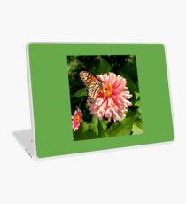 Monarch and Zinnia Laptop Skin