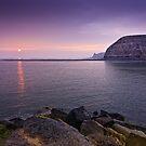 Staithes - Harbour Entrance Sunrise by David Lewins