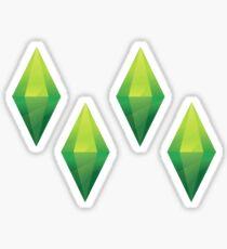 4 Plumbob stickers Sticker