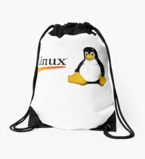 Awesome Linux - Tux Drawstring Bag