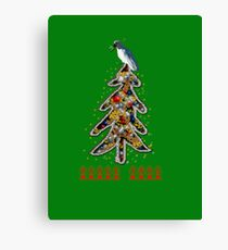 Aussi  X-mas cockatoo (green text) Stock up , get ready for Christmas ! Canvas Print