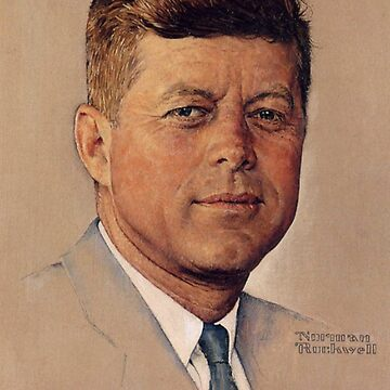 Norman Rockwell, JFK, Portrait of, John F. Kennedy, (1960) by TOMSREDBUBBLE