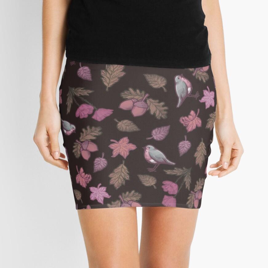 Folk Autumn Mauve Mini Skirt