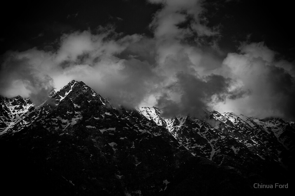 Himalayan Peaks with Clouds by Chinua Ford