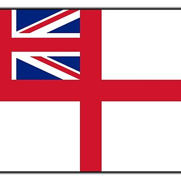 White Ensign, Flag, Royal Navy, Ships, St George's Cross, St George's Ensign, Navy, on White by TOMSREDBUBBLE