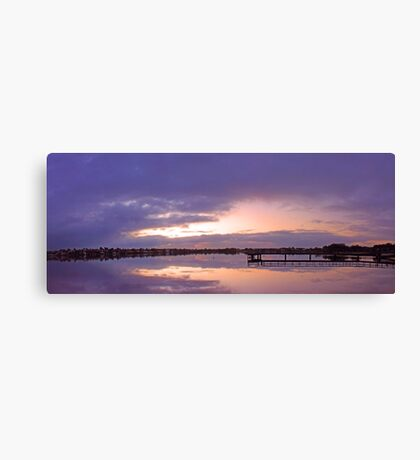 Shelley Jetty At Dusk  Canvas Print