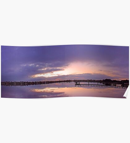 Shelley Jetty At Dusk  Poster