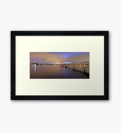 Approaching Rain At Shelley Jetty  Framed Print