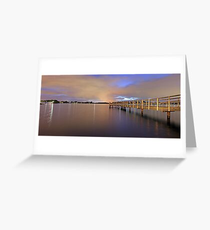 Approaching Rain At Shelley Jetty  Greeting Card