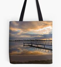 Shelley Jetty At Sunset  Tote Bag