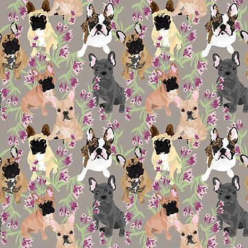 Frenchie in Floral by VieiraGirl