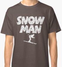 Snowman Ski Skier Skiing Classic T-Shirt