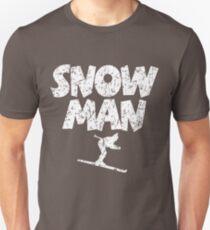 Snowman Ski Skier Skiing Unisex T-Shirt