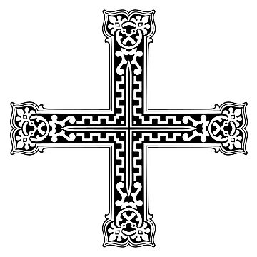 Gothic Decorative Ornamental Cross by TOMSREDBUBBLE