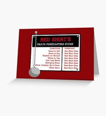 Red Shirt's Death Forecasting Stone Greeting Card