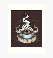 The Holy Trinity of Caffeine Art Print