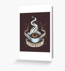 The Holy Trinity of Caffeine Greeting Card