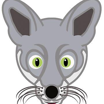 Silver Fox by tierneyart