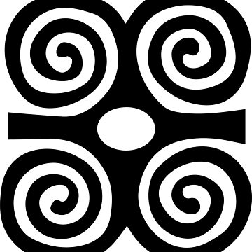 West African Strength and Humility Symbol by Crampsy
