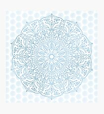 Blue Delicate Nature Mandala Photographic Print