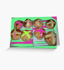 Hot Cross Buns Greeting Card