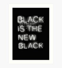 Black Is The New Black Art Print