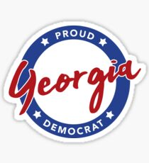 Proud Georgia Democrat Sticker