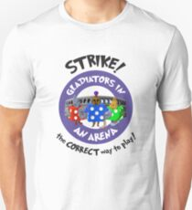 Strike! Gladiators in an Arena Slim Fit T-Shirt